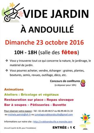 Vide jardin 2016 andouill pays de la loire sorties for Vide jardin finistere 2016
