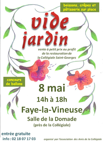 Vide jardin 2015 faye la vineuse centre divers for Vide jardin finistere 2015